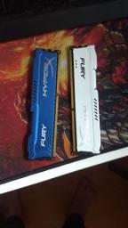 Memória RAM 8gb 2x4 1600mhz
