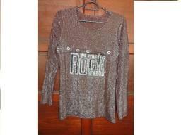 Blusa em malha feminina We Will Rock You