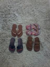 Sandalha pra menina tamanho 23 tamanho 24 tamanho 25 tuo po 15,00s