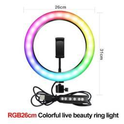 Ring Light RGB 26CM Novo s/ tripé