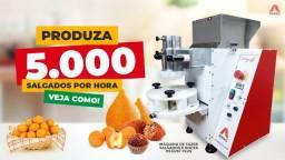 Kit fábrica de salgado completo (Modeladora + Masseira + fritadeira + acessórios)