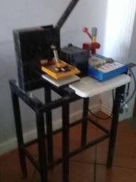 Máquina de fazer chinelo e máquina de carimbo bronze