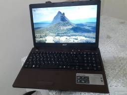 Notebook Acer aspire intel dual core HD 320gb memória 4gb tela led slim 15.6 polegadas