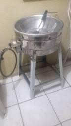 Fritadeira para batata ou pastéis a gas com escorredor concha