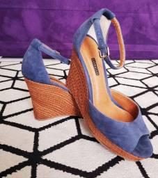 Sandália Anabela Corello 37 Azul seminova