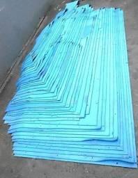 Borracha EVA 6 Milímetros Azul 72 Metros Quadrados 46 placas