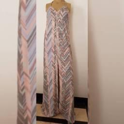 Vendo lindo vestido longo de alças da Bo.Bô, tamanho P (veste 38/40)