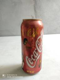 Lata vazia Coca cola antiga edição especial Pelé