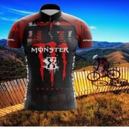 Camiseta para Ciclismo Monster 3 bolsos UVA e UBV