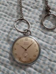 Relógio de algibeira prata