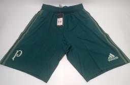Bermuda Palmeiras treino Adidas bolsos