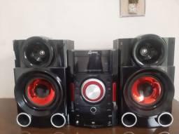Aparelho de som com duas caixas Lenoxx