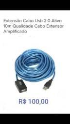 Cabo Extensor USB Amplificado