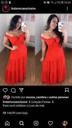 Vestido vermelho pra vender logo