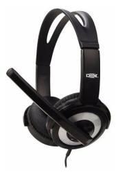 Headset Fone De Ouvido E Microfone Conexão Usb Qualidade df-55