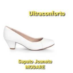 Sapato joanete modare branco com ultraconforto