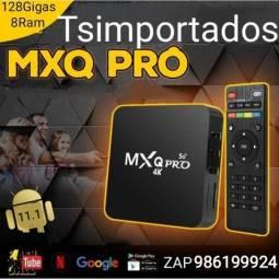 Promoção - 128Gigas/8Ram Android 11 - PC BOX transformar sua TV em SMART