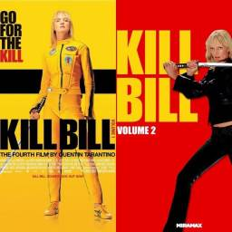 Dvd Kill Bill Volume 1 E 2 Com Selo De Locadora