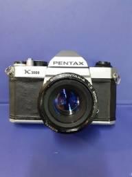 Câmera Pentax  K1000 funcionando