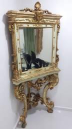Linda e rara antiguidade, cristaleira / cantoneira Luis XV