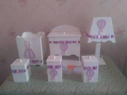 Kit Higiene Bebê em MDF *Novo