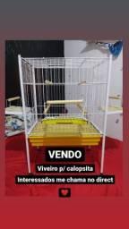 VIVEIRO PARA CALOPSITAS
