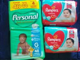 Fralda Personal e Pampers