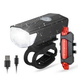 Kit Lanterna E Farol A Prova D'água Iluminação Forte Led