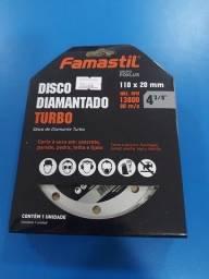 Kit 5 Disco Diamantado Turbo 110x20mm Famastil
