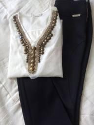 Calça e blusa feminina, Tamanho M, como novas