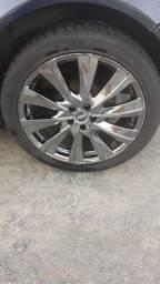 Roda 18 5 furos pneus novos troco por aro 15