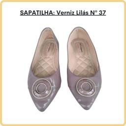 Sapatilha Lilás Verniz -Tam: 37