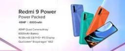 Redmi 9 Power 128GB/4 GB 48 MP + 6000 mAh bateria Verde/Azul Índia