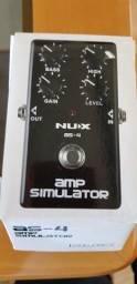 Pedal NUX AS-4 AMP SIMULATOR na caixa