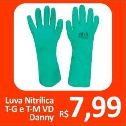 Luva Nitrílica T-G e T-M VD Danny - Promoção= R$ 7,99