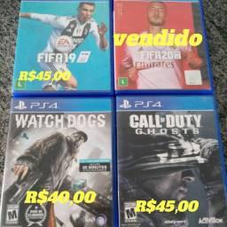 Jogos de ps4 apartir de 40 reais