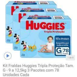 Fralda tripla ação Huggies - G