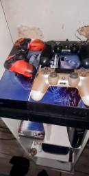 Ps4 500 gb personalizado 2 jogos 3 controles