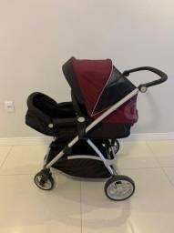 Carrinho de Bebê Moisés com Bebê Conforto - Galzerano