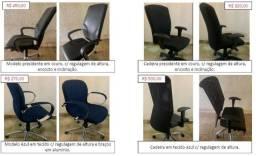 Cadeira de escritório com ou sem regulagem