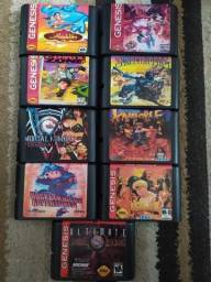 Fitas de Mega Drive