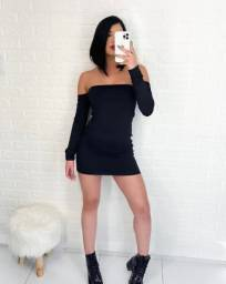Vestido preto manga