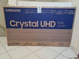 """Smart TV 55"""" Samsung Crystal 55TU8000 NOVA LACRADA com NF e Garantia;"""