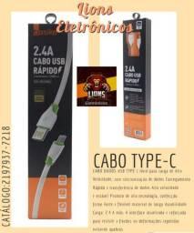 Cabo Type-c Carregador e Transmissor