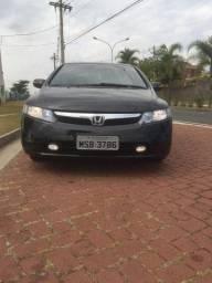 New Civic LXS 2009 flex, couro, completo