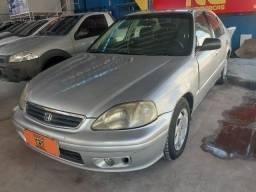 Honda Civic EX 1.6 (2000) completo+gnv+ipva+transferência=Entrada 3.000  + 48x387.00