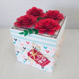 Presente dia dos namorados caixa explosão para 9 doces