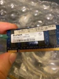 Memória ram DDR2 2gb notebook