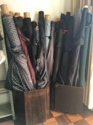 Tecidos vendidos à metro alfaiataria, camisaria, cortinas
