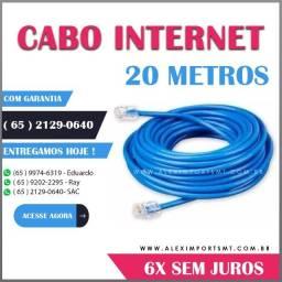 cabo de rede 20 metros clipado revestido com pvc muito bom